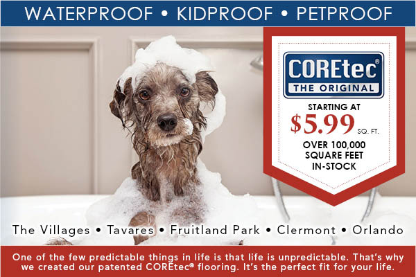 COREtec Starting at $5.99 sq.ft., Over 100,000 sq.ft. in-stock, going on this month at Best Flooring Center.