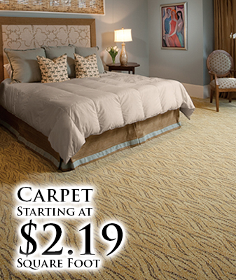 Carpet starting at $2.19 sq. ft.