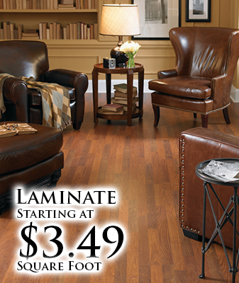 Laminate starting at $3.49 sq. ft.